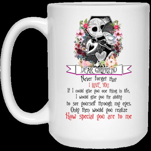 Jack Dear girlfriend never forget that I love you mug shirt - image 7 510x510