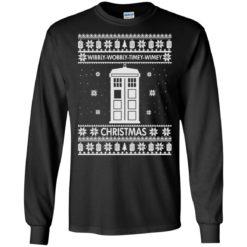 Wibbly wobbly timey wimey Christmas sweatshirt shirt - image 1027 247x247
