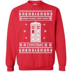Wibbly wobbly timey wimey Christmas sweatshirt shirt - image 1032 247x247
