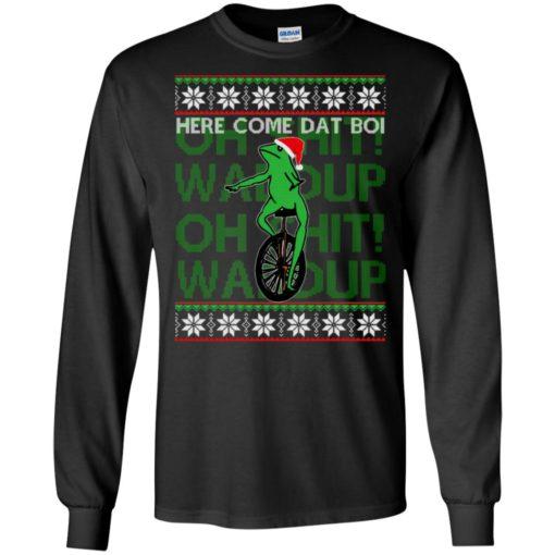 Here comes dat boi, o shit waddup Christmas sweatshirt shirt - image 1037 510x510
