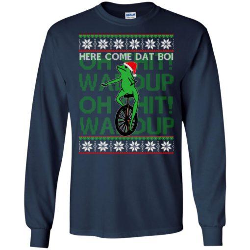 Here comes dat boi, o shit waddup Christmas sweatshirt shirt - image 1038 510x510