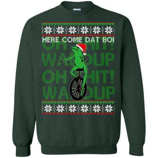 Here comes dat boi, o shit waddup Christmas sweatshirt shirt - image 1043 510x510