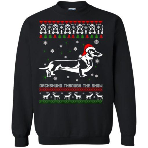Dachshund Through The Snow Christmas sweatshirt shirt - image 1050 510x510