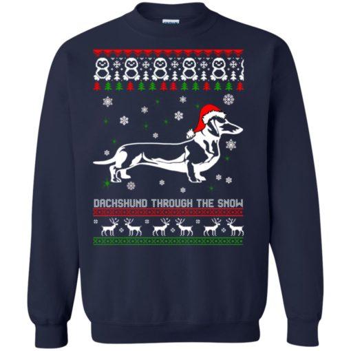Dachshund Through The Snow Christmas sweatshirt shirt - image 1051 510x510