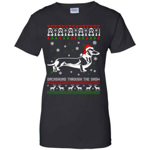 Dachshund Through The Snow Christmas sweatshirt shirt - image 1055 510x510