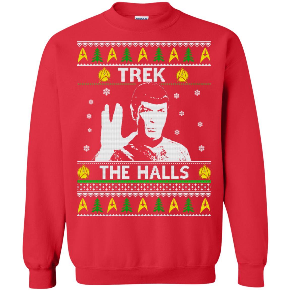 Star Trek Trek the halls Christmas sweatshirt, hoodie, long sleeve