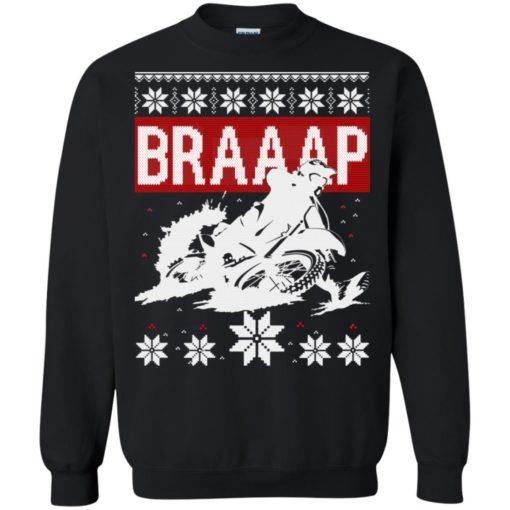 Motocross Braaap Christmas sweatshirt shirt - image 1339 510x510