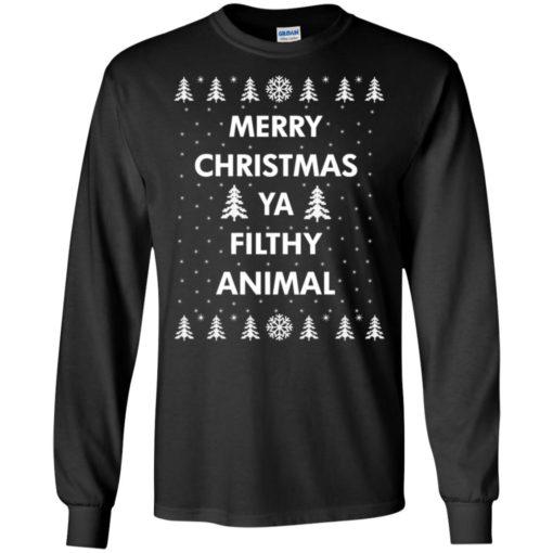 Merry Christmas Ya filthy animal sweatshirt shirt - image 1346 510x510