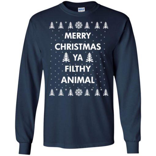 Merry Christmas Ya filthy animal sweatshirt shirt - image 1347 510x510