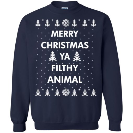 Merry Christmas Ya filthy animal sweatshirt shirt - image 1350 510x510
