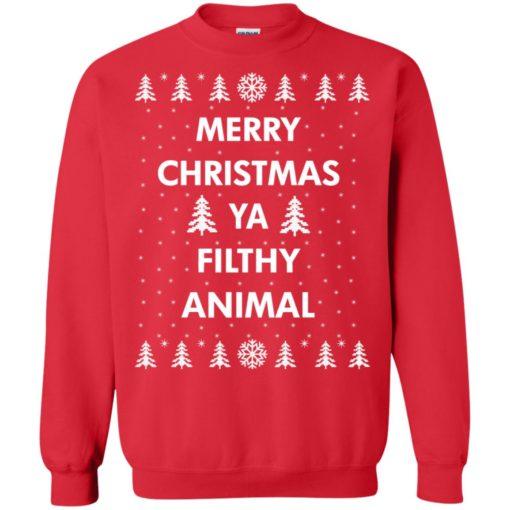 Merry Christmas Ya filthy animal sweatshirt shirt - image 1351 510x510