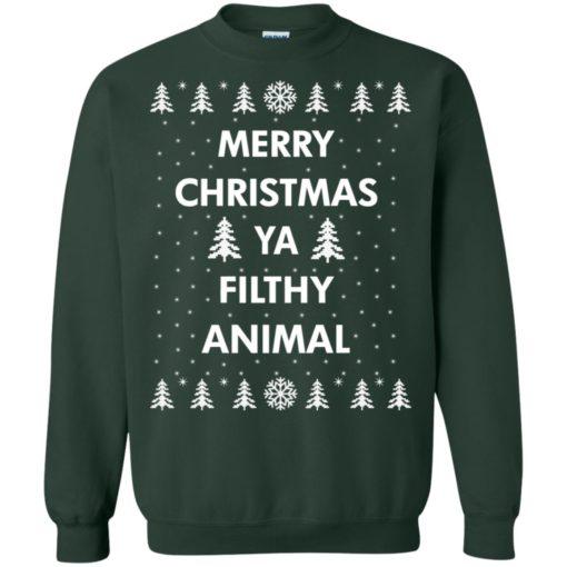 Merry Christmas Ya filthy animal sweatshirt shirt - image 1352 510x510