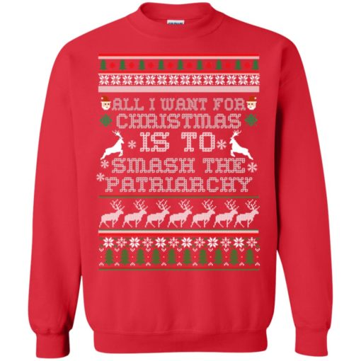 All I want for Christmas is to smash the patriarchy sweatshirt shirt - image 1431 510x510