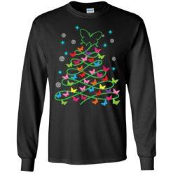 Butterfly Christmas tree sweatshirt shirt - image 1624 247x247