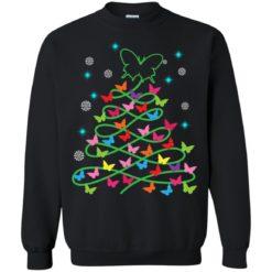Butterfly Christmas tree sweatshirt shirt - image 1627 247x247