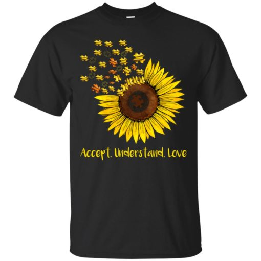 Autism sunflower accept understand love shirt - image 1663 510x510
