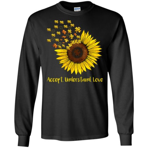 Autism sunflower accept understand love shirt - image 1664 510x510