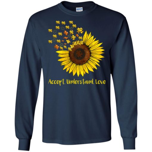 Autism sunflower accept understand love shirt - image 1665 510x510
