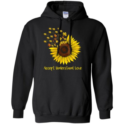 Autism sunflower accept understand love shirt - image 1666 510x510