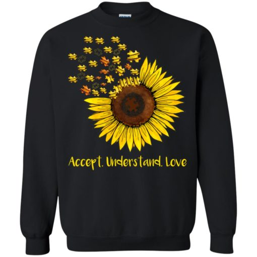 Autism sunflower accept understand love shirt - image 1667 510x510