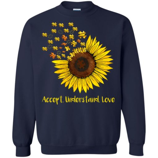 Autism sunflower accept understand love shirt - image 1668 510x510