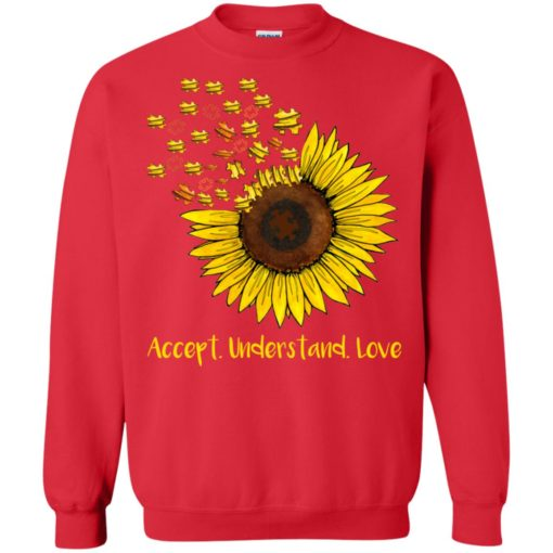 Autism sunflower accept understand love shirt - image 1669 510x510