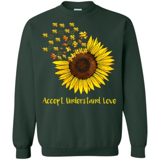 Autism sunflower accept understand love shirt - image 1670 510x510