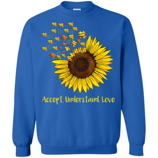 Autism sunflower accept understand love shirt - image 1671 510x510