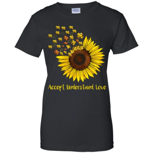 Autism sunflower accept understand love shirt - image 1672 510x510