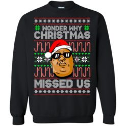 Notorious B.I.G Wonder why Christmas missed us sweatshirt shirt - image 1787 247x247