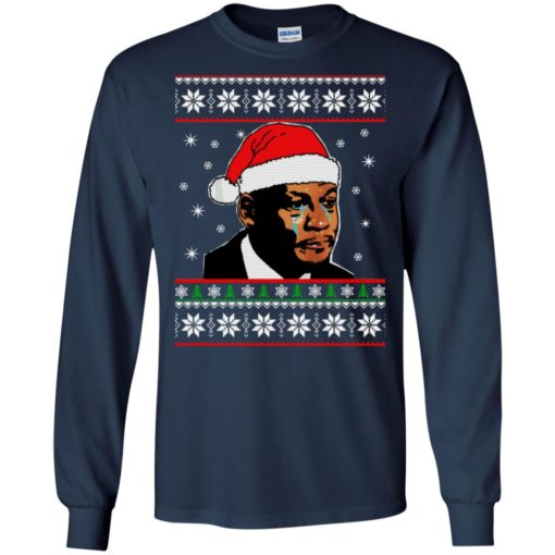 Crying Jordan Christmas sweater shirt - image 228 510x510