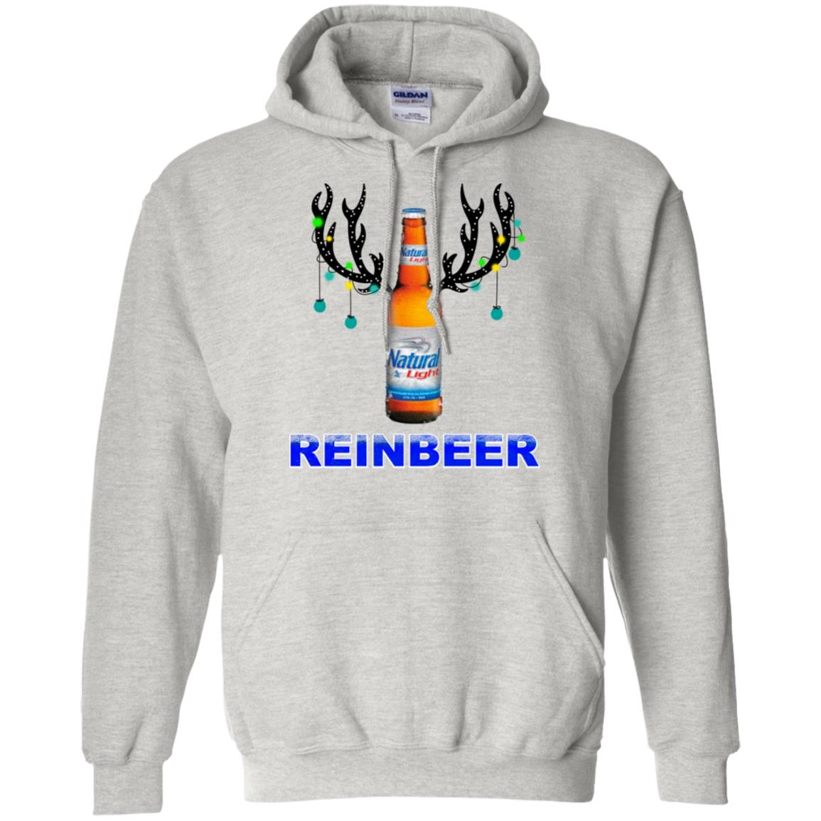Reinbeer Natural Light Christmas Sweatshirt Hoodie Long Sleeve