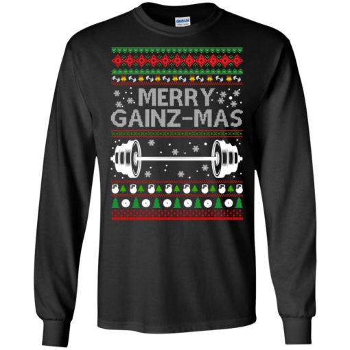Merry gainzmas Christmas sweatshirt shirt - image 2547 510x510