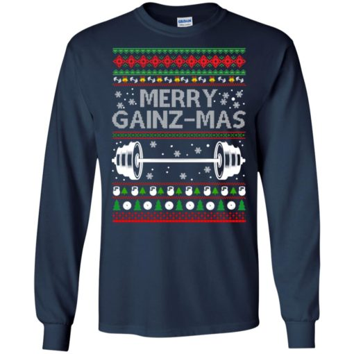 Merry gainzmas Christmas sweatshirt shirt - image 2548 510x510