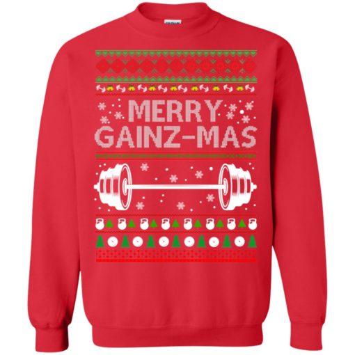 Merry gainzmas Christmas sweatshirt shirt - image 2552 510x510