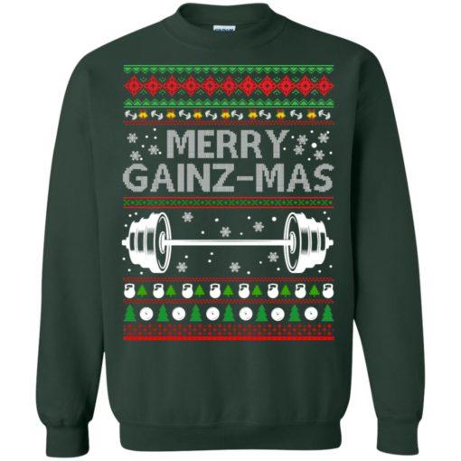 Merry gainzmas Christmas sweatshirt shirt - image 2553 510x510