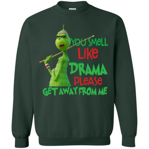 Grinch You smell like drama please get away from me shirt - image 2583 510x510