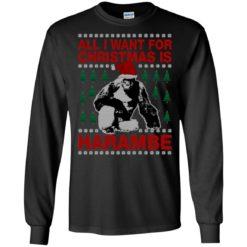 Bigfoot All I want for Christmas is Harambe sweatshirt shirt - image 317 247x247