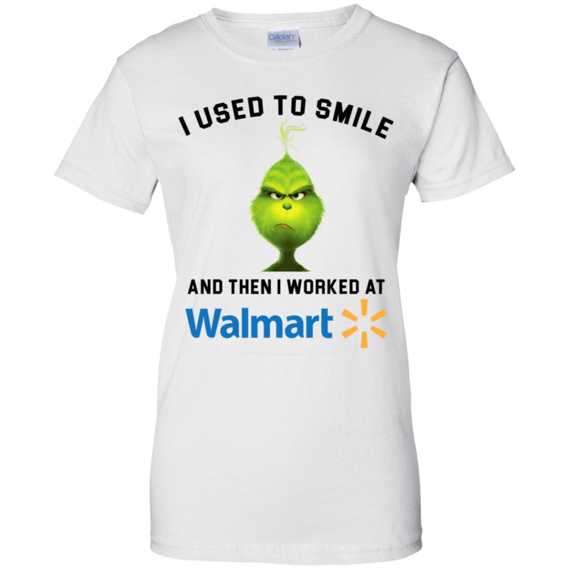 Grinch I used to smile and then I worked at walmart