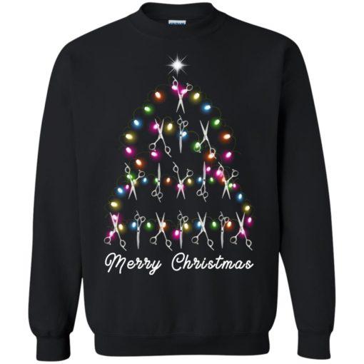 Hair Stylist Christmas tree sweatshirt shirt - image 4600 510x510