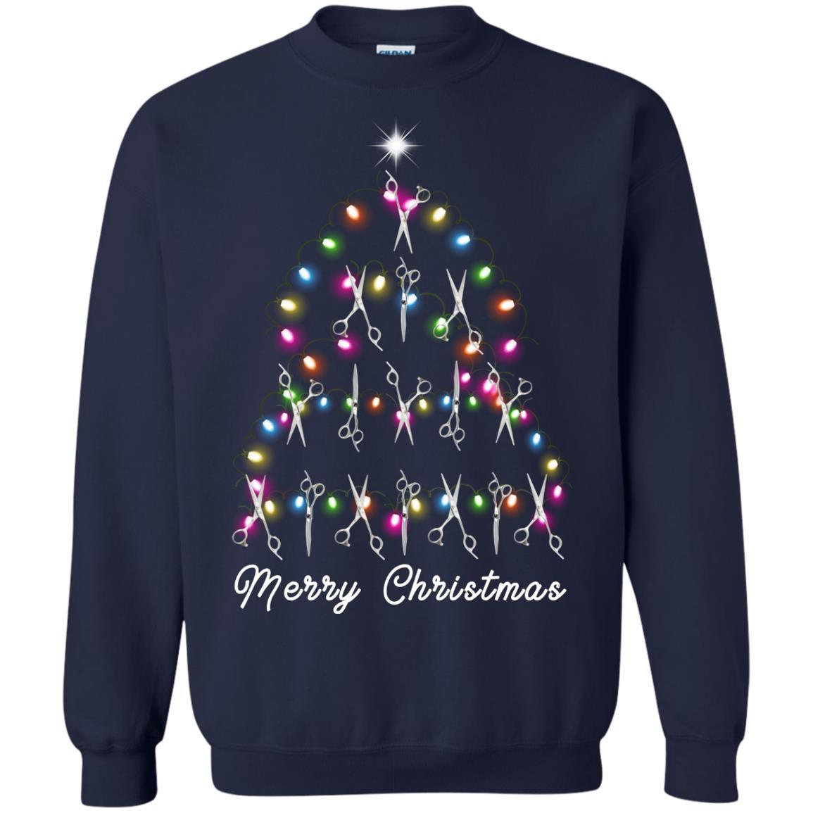 Hair Stylist Christmas Tree Sweatshirt