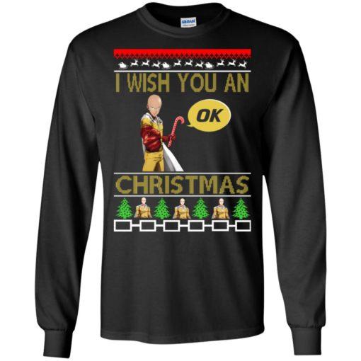 Saitama I wish you an OK Christmas sweatshirt shirt - image 4613 510x510