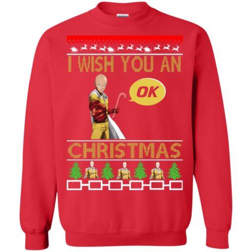 Saitama I wish you an OK Christmas sweatshirt shirt - image 4618 510x510