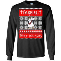 Jesus Christ Dabbing For Your Sins Christmas sweatshirt shirt - image 4757 247x247