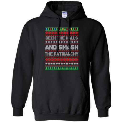 Deck the halls and smash the patriarchy Christmas sweater shirt - image 702 510x510