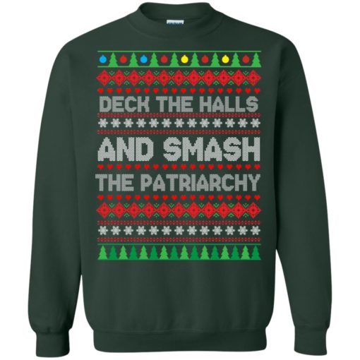 Deck the halls and smash the patriarchy Christmas sweater shirt - image 706 510x510