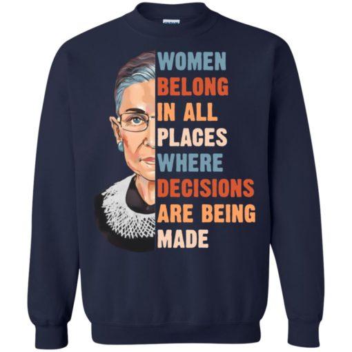 Ruth Bader Ginsburg women belong in all places where shirt shirt - image 1175 510x510