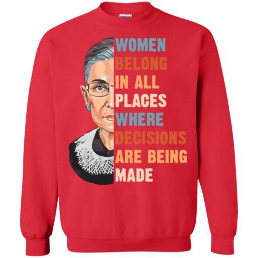 Ruth Bader Ginsburg women belong in all places where shirt shirt - image 1176 510x510
