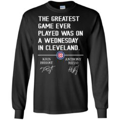 The greatest game ever played was on a wednesday in cleveland shirt - image 1229 247x247