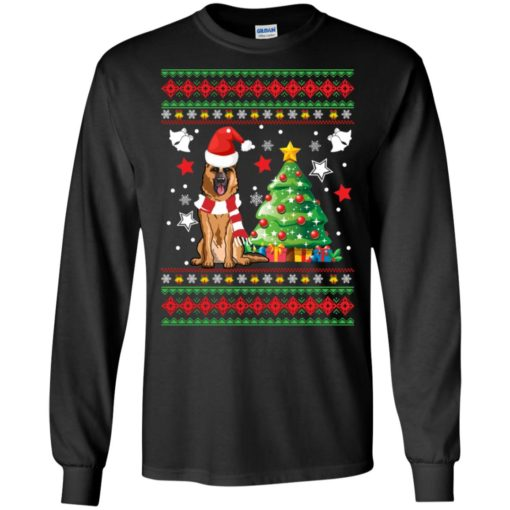 German Shepherd Christmas sweatshirt shirt - image 137 510x510